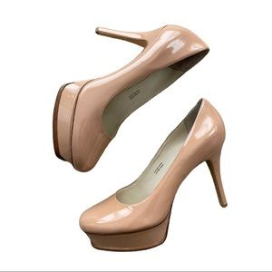 Vera Wang Lavender Label Nude Pump Round Toe 7.5